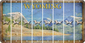 Wyoming DOG Cut License Plate Strips (Set of 8) LPS-WY1-073