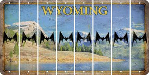 Wyoming BAT Cut License Plate Strips (Set of 8) LPS-WY1-074