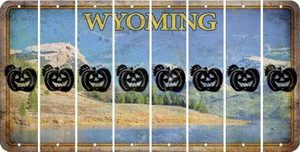 Wyoming PUMPKIN Cut License Plate Strips (Set of 8) LPS-WY1-075