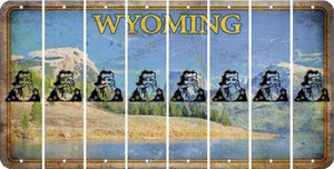 Wyoming SANTA Cut License Plate Strips (Set of 8) LPS-WY1-078