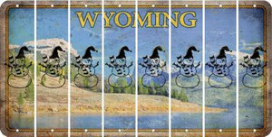 Wyoming SNOWMAN Cut License Plate Strips (Set of 8) LPS-WY1-079