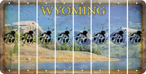 Wyoming LADYBUG Cut License Plate Strips (Set of 8) LPS-WY1-087