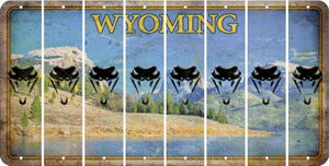 Wyoming SNAKE Cut License Plate Strips (Set of 8) LPS-WY1-088