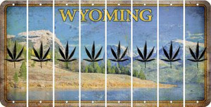 Wyoming POT LEAF Cut License Plate Strips (Set of 8) LPS-WY1-090