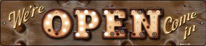 We're Open Come In Bulb Lettering Wholesale Small Street Signs K-822