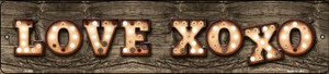 Love XOXO Bulb Lettering Wholesale Small Street Signs K-832
