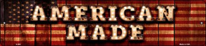 American Made Bulb Lettering American Flag Wholesale Small Street Signs K-846