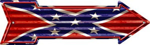 Confederate Flag Corrugated Wholesale Novelty Arrow Sign
