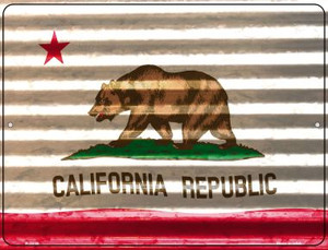 California Flag Wholesale Novelty Parking Sign P-2319