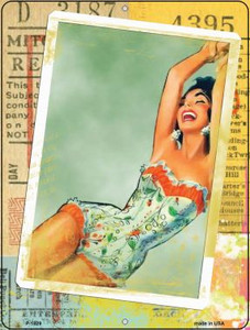 Photo Of Corset Girl Vintage Pinup Wholesale Parking Sign P-1829