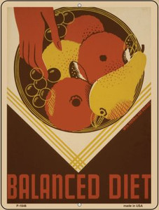 Balanced Diet Vintage Poster Wholesale Parking Sign P-1846