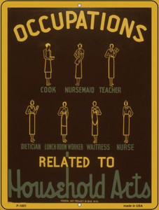 Occupations Vintage Poster Parking Sign P-1851