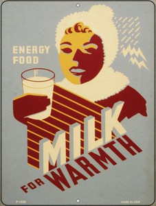 Milk for Warmth Vintage Poster Wholesale Parking Sign P-1858