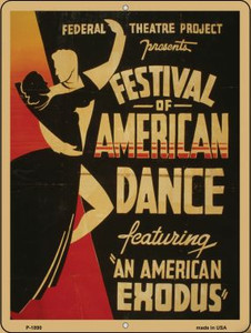 Festival of America Vintage Poster Wholesale Parking Sign P-1890