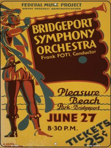 Bridgeport Symphony Orchestra Vintage Poster Wholesale Parking Sign P-1895