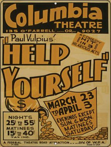 Help Yourself Vintage Poster Parking Sign P-1908