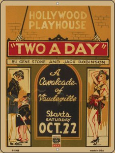 Hollywood Playhouse Vintage Poster Wholesale Parking Sign P-1909