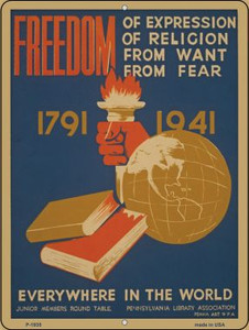 Freedom Everywhere Vintage Poster Wholesale Parking Sign P-1935
