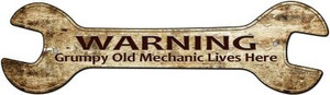 Grumpy Old Mechanic Wholesale Novelty Metal Wrench Sign W-108
