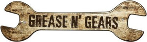 Grease And Gears Wholesale Novelty Metal Wrench Sign W-111