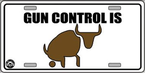 Gun Control Wholesale Metal Novelty License Plate LP-4687