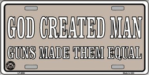 Guns Made Them Equal Wholesale Metal Novelty License Plate LP-4689
