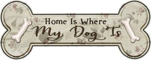 Where My Dog Is Wholesale Novelty Bone Magnet B-005