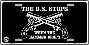 The BS Stops Wholesale Metal Novelty License Plate LP-4690