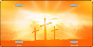 Crosses in the Sun Orange Wholesale Novelty License Plate LP-11795