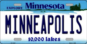 Minneapolis Minnesota State Novelty Wholesale License Plate LP-11037