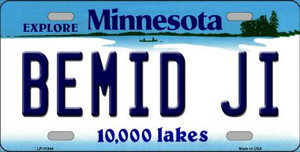Bemid Ji Minnesota State Novelty Wholesale License Plate LP-11044