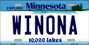 Winona Minnesota State Novelty Wholesale License Plate LP-11047