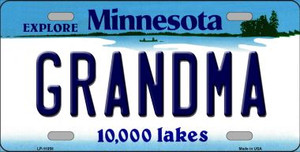 Grandma Minnesota State Novelty Wholesale License Plate LP-11058
