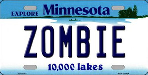Zombie Minnesota State Novelty Wholesale License Plate LP-11062