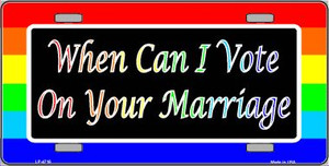When Can I Vote Wholesale Metal Novelty License Plate LP-4716