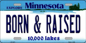 Born and Raised Minnesota State Novelty Wholesale License Plate LP-11071