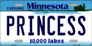 Princess Minnesota State Novelty Wholesale License Plate