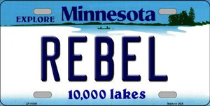 Rebel Minnesota State Novelty Wholesale License Plate LP-11081