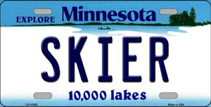 Skier Minnesota State Novelty Wholesale License Plate LP-11082
