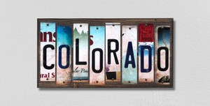 Colorado Wholesale Novelty License Plate Strips Wood Sign