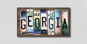 Georgia Wholesale Novelty License Plate Strips Wood Sign WS-162