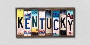 Kentucky Wholesale Novelty License Plate Strips Wood Sign