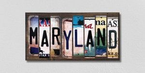 Maryland Wholesale Novelty License Plate Strips Wood Sign