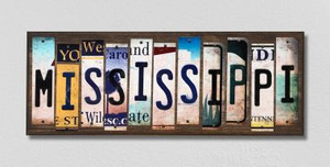 Mississippi Wholesale Novelty License Plate Strips Wood Sign WS-174