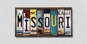 Missouri Wholesale Novelty License Plate Strips Wood Sign