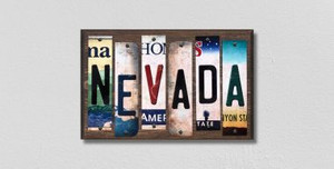 Nevada Wholesale Novelty License Plate Strips Wood Sign