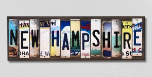 New Hampshire Wholesale Novelty License Plate Strips Wood Sign