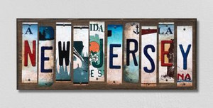 New Jersey Wholesale Novelty License Plate Strips Wood Sign WS-180