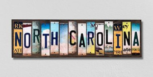 North Carolina Wholesale Novelty License Plate Strips Wood Sign