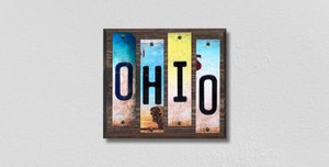 Ohio Wholesale Novelty License Plate Strips Wood Sign